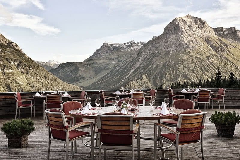 Alpine terrace restaurant