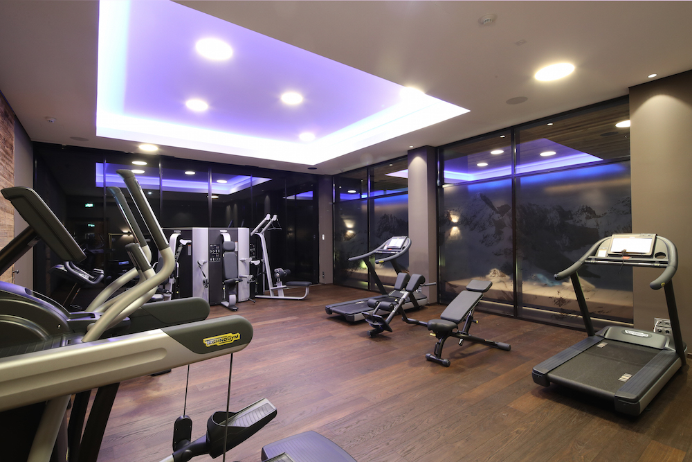 State-of-the-art gym facilities in Severin's Alpine Retreat.