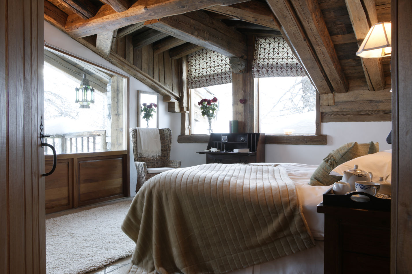 Bedroom view in Chalet Le Chardon